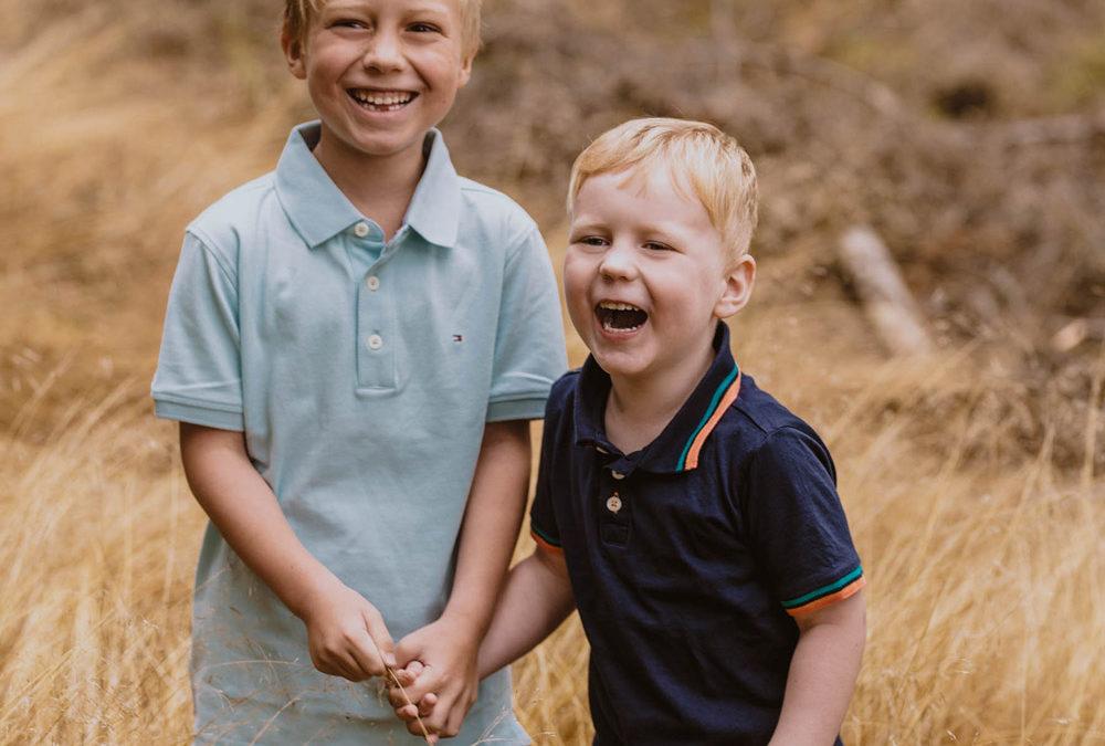Kinder während des Shootings