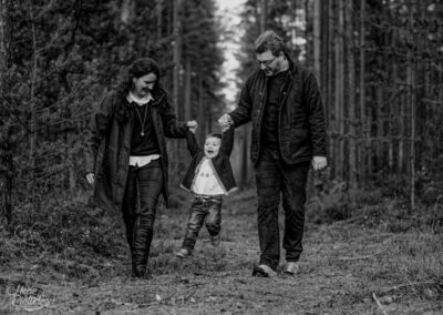 Family farbenfroher Herbst